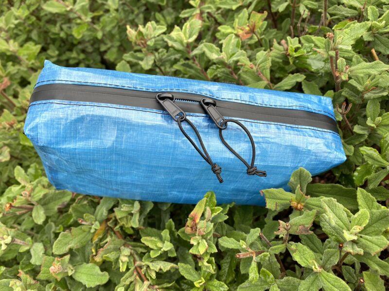 "UL Dyneema DCF Pouch Bag Blue 8""x4""x2"" Sternum Hip belt Backpacking Minimalists"