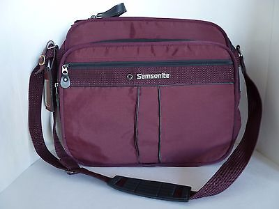 Samsonite System 4 Maroon Red Travel Carry On Luggage Tote Bag Adjustable Strap