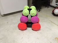 Weight Set with Stand