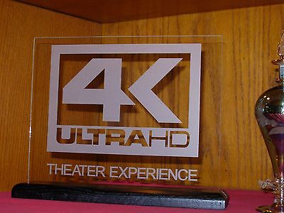 4K Ultra HD Etched Glass Home Theater sign