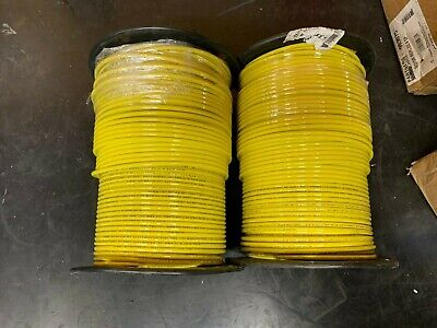 Alanwire 2 500ft Spool 10awg 19 Stranded Thhnthwn-2 Building Wire Cable Yellow