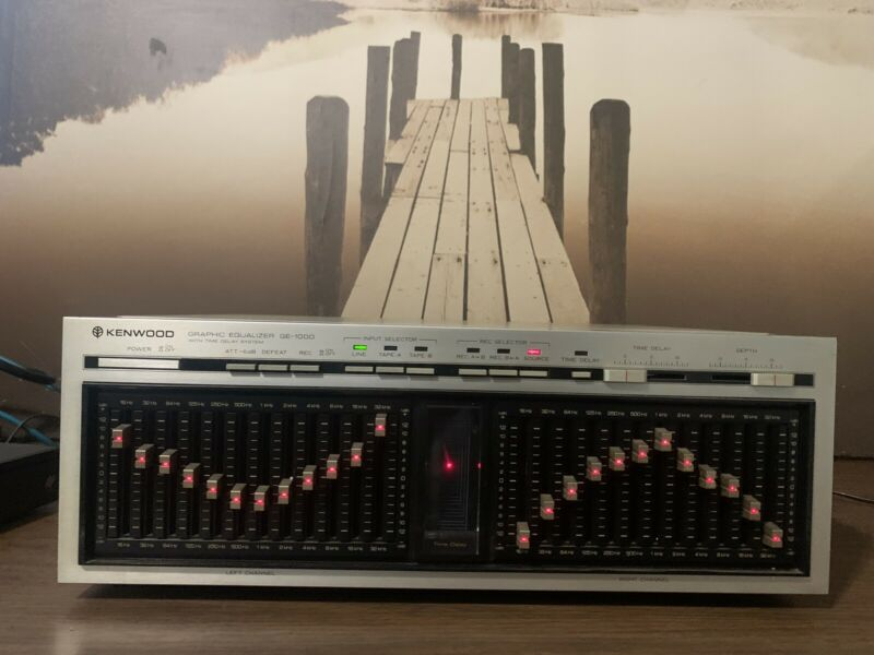 Vintage Kenwood GE-1000 12-Band Graphic Equalizer Nice Condition and Works Great