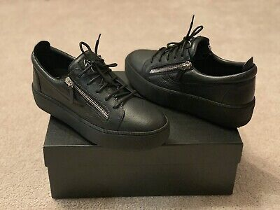 $695 Mens Giuseppe Zanotti Designer Shoes Soft Leather Low-Top Sneakers 43 US 10