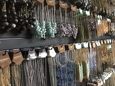 Lot Of 35 Fashion Jewelry Earrings, Necklaces, Chokers Wholesale USA Seller New