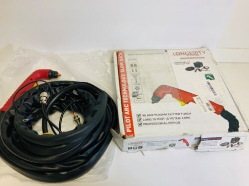 Longevity S45 Pilot Plasma Arc Cutter Cutting Torch Oxygen Power Tool Curved