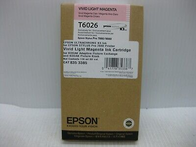 Epson Light Magenta Ink T6026 Genuine 9880 7880 SHIPS OVERBOXED * Date: Oct -