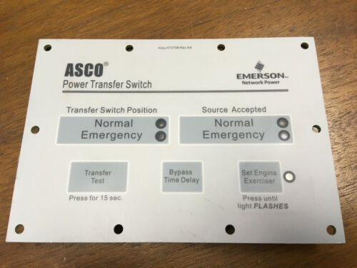 ASCO Group 1 Controller Membrane Panel / Face Plate ASCO # 473708 New in Package