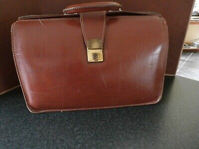 Vintage Real Leather Briefcase - Cheney Lock