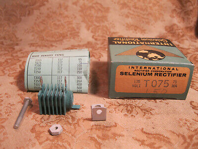 Vintage Nos Nib Selenium Rectifier International Model T075 75ma 130v Max