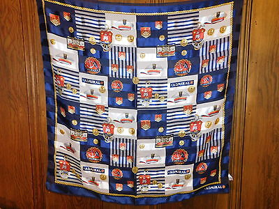 "BETMAR Nautical Theme Admiral Yacht Boat Ship Anchor 26"" Scarf Red White Blue"