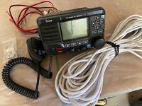 ICOM M506 AIS/NEMA 200/Front Mic/Incl new coax cable