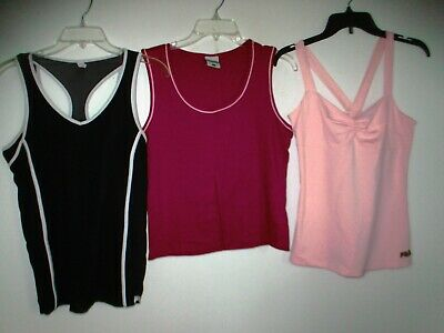 Fila & Columbia Womens Running Yoga Tennis Tank Tops Sports Shirts size L