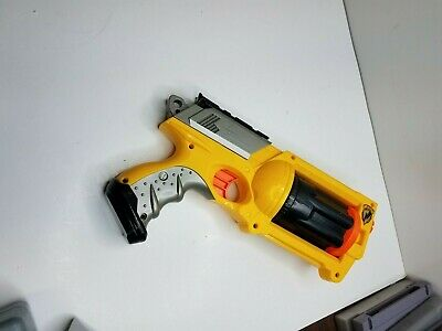 Nerf N-Strike Handgun Pistol Yellow Orange Blaster Dart Gun REV-6 MAVERICK