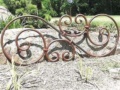 Large scrolled Iron Pediment Door Topper Medallion Valance