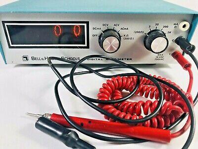 Vintage Heath Imd-202-2 Bell Howell Schools Digital Multimeter- Good Nixie Tubes