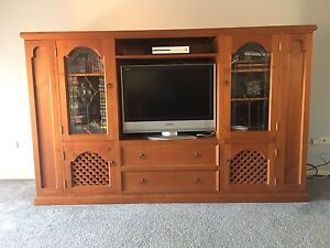 TV cabinet with CD / DVD STORAGE Hinchinbrook Liverpool Area Preview