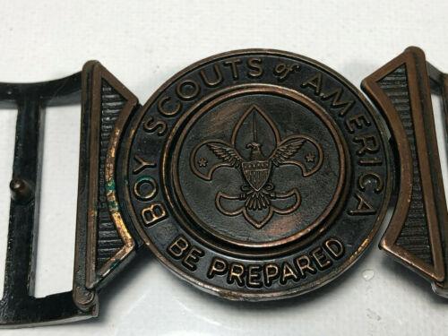 VINTAGE Boy Scout Belt Buckle BE PREPARED Two Piece
