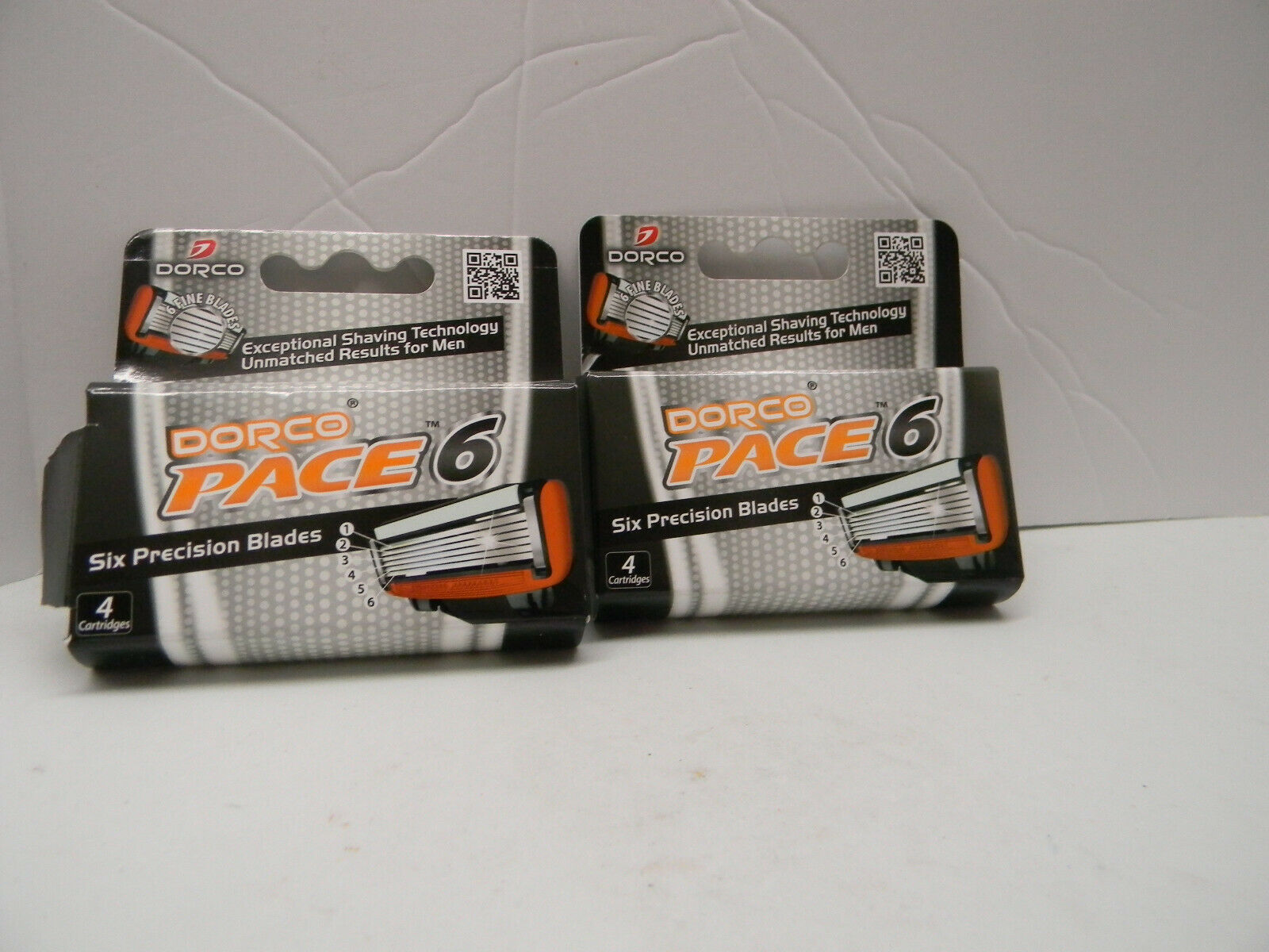 Dorco Pace 6- Six Blade Razor System Refill Cartridge - 4 Co