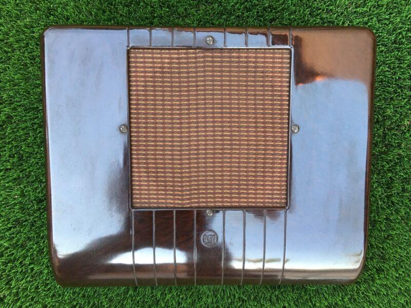 Vintage RCA brown bakelite wall speaker