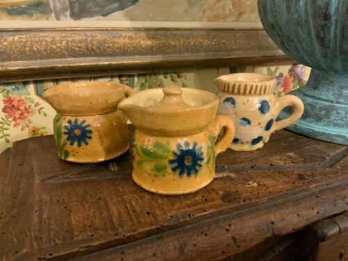 French Pottery Creamers Alsace region France