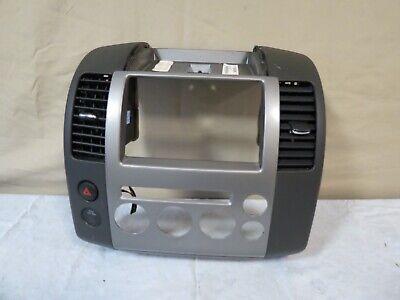 ✅ 05 06 07 Nissan Pathfinder Instrument Panel Radio Climate Bezel w/ Vents (Hold Glasses On Face)
