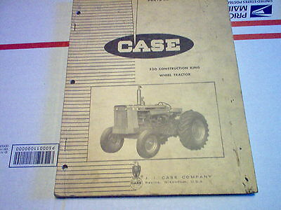 Case 530 Construction King Wheel Tractor Parts Catalog Original Issued 765