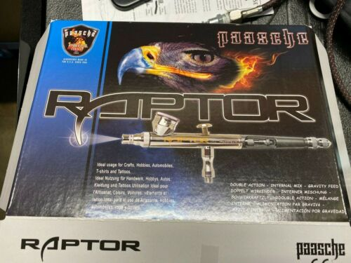 Paasche airbrush Raptor RG-3S .25, 0.38 and 0.66mm nozzle sets, hose