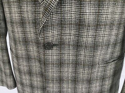 VERSACE Men's Gray Check Cashmere Wool Sport Coat 40R