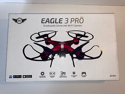 New Sky Rider Eagle 3 Pro Quadcopter Drone with Wi-Fi Camera - Red