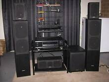 Home Theater Surround System Amp Receiver Speakers Sub Woofe...