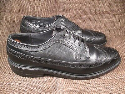 British Walkers Custom Black Pebble Grain Wingtips Size 10.5 D for sale  Shipping to India