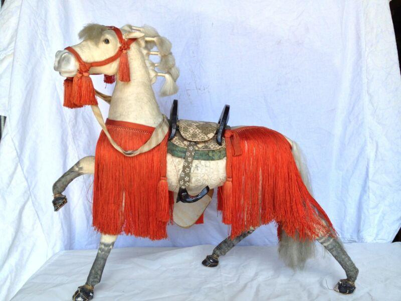 JD 102 Japanese Antique Horse Doll Hina Ningyo Extra Large