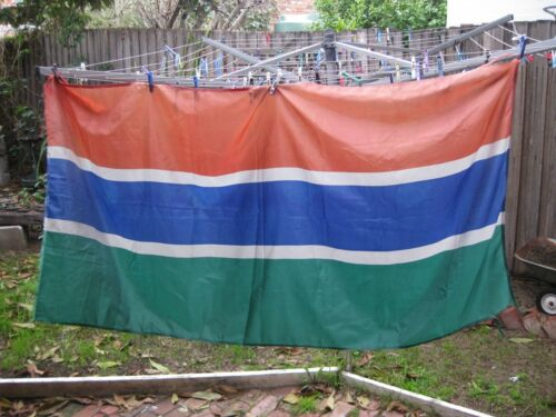 FLAG - GAMBIA (Flew Over Southern Cross Hotel - Melbourne) Vintage 1980s