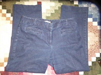 "Talbots Women's Size 14 Signature Boot Cut Dark Denim Blue Jeans 29"""