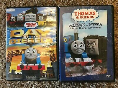 Thomas & Friends 2 DVD lot Day of the Diesels, Steamies vs. Diesels VGUC-LNC