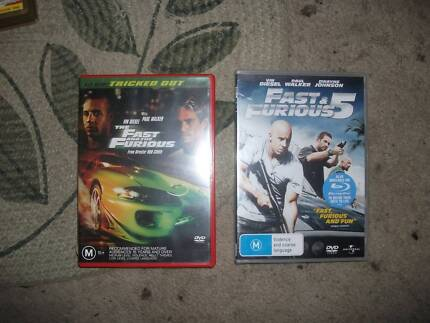 fast and furiousi 1 and 5 dvds