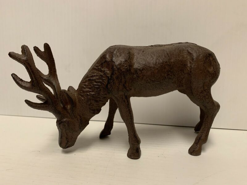 Cast Iron Elk Doorstop Cabin Lake Home Decor