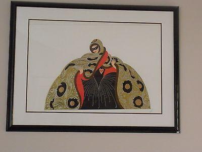 "ERTE Signed 1987 Original Color Serigraph - ""Masquerade II"""