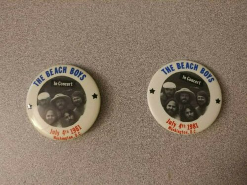 Vintage Beach Boys Concert Pin LOT 1981