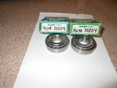 2 Two Koyo 30204 Tapered Roller Bearings Cups Free Shipping-- One Pair