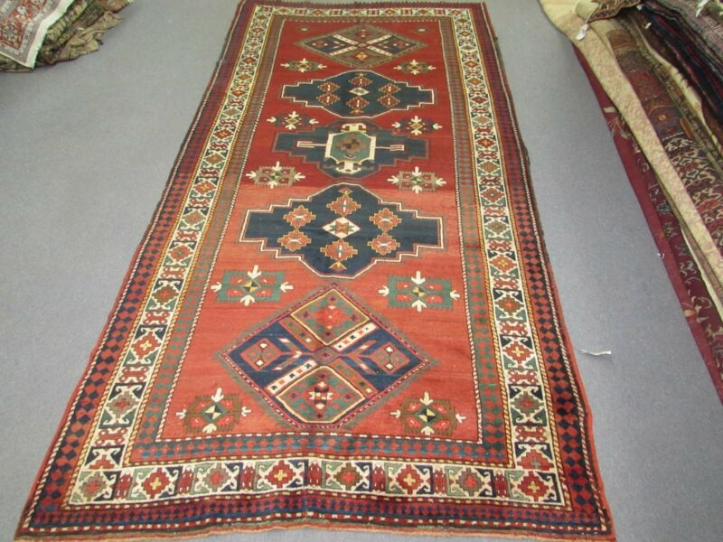 Antique Kazak Gallery Rug 5
