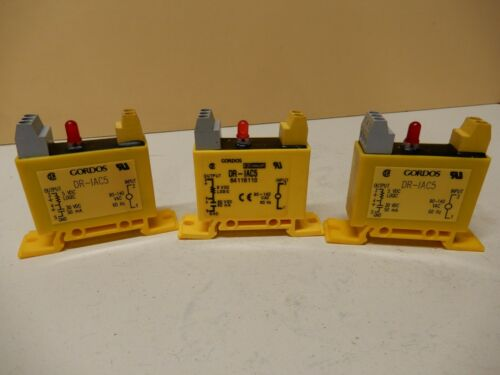 Gordos DR-IAC5 Solid State Relays Qty 3 Used and a Little Dirty 120 VAC In