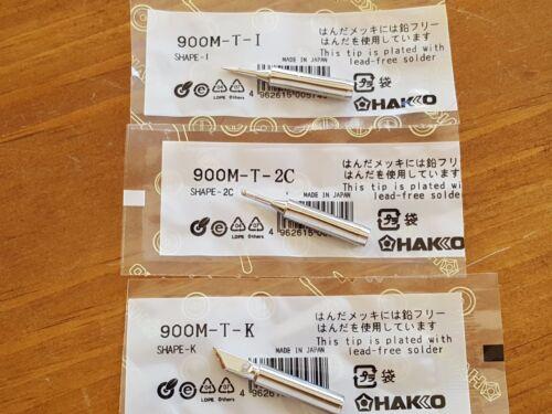 3 x Solder Iron Tips Set Lead-Free for Hakko 936 900M-T-2C + 900M-T-1 + 900M-T-K