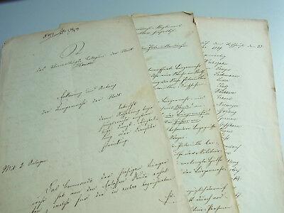 3 Dokumente HAMELN 1849: Geplante Auflösung der BÜRGERWEHR; sign. v. WEIBEZAHN