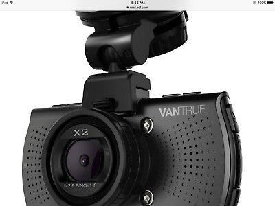 Vantrue X2 Super Hd 2 5K 170  Wide Angle Dash Cam Video Camera Dvr Black