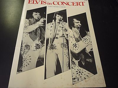 Elvis Presley In Concert Songbook Big 3 Music RARE