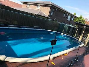 Salt water Above ground swimming pool Ermington Parramatta Area Preview