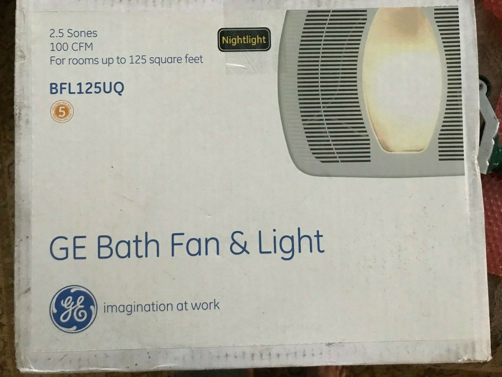 bathroom fan and light 100 cfm bfl125uq