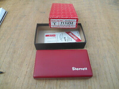 Starrett 711 Last Word Dial Indicator With Case .0005 Usa Made