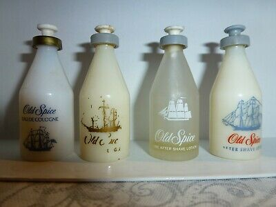 Lot 4  miniatures SHULTON Old spice 7 ml vintage anciennes